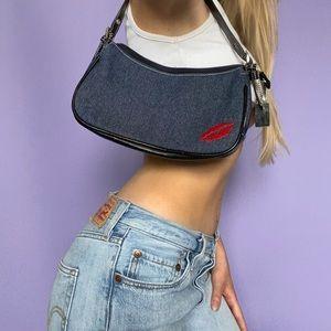 Hot Kiss Y2K Denim Mini Shoulder Bag
